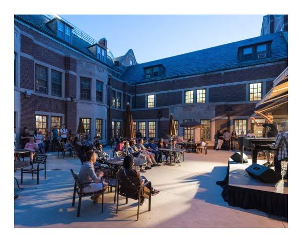 The Michigan Union patio.