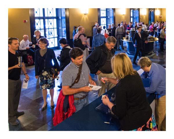 Conference & Event Services staff handle event registration effortlessly.