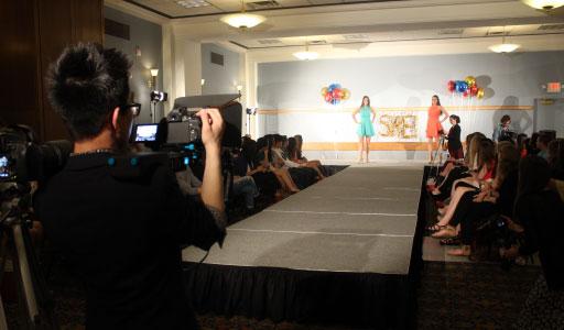 Photo of a runway fashion show
