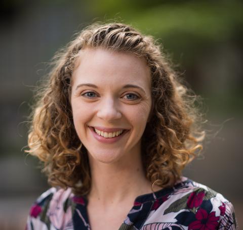 Portrait of new CES employee Laura Wilde.