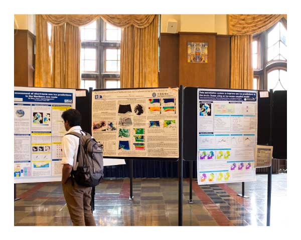A poster session at the Michigan Union.