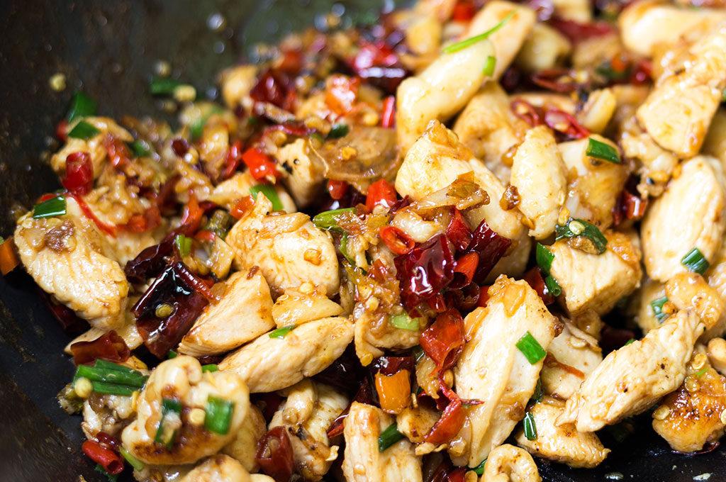 Wok-Sautéed Chicken in Mandarin Sauce