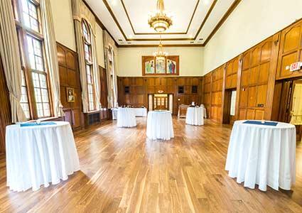 The Vandenberg room set for a special event.