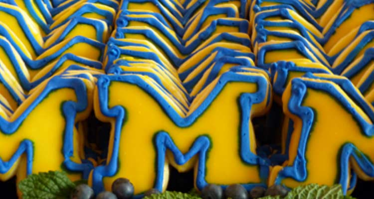 "A plate of our special ""M"" cookies."